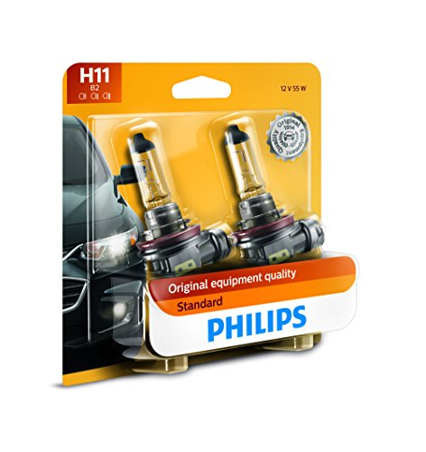 PHILIPS - 12362B2 Philips H11 Standard Halogen Replacement Headlight Bulb