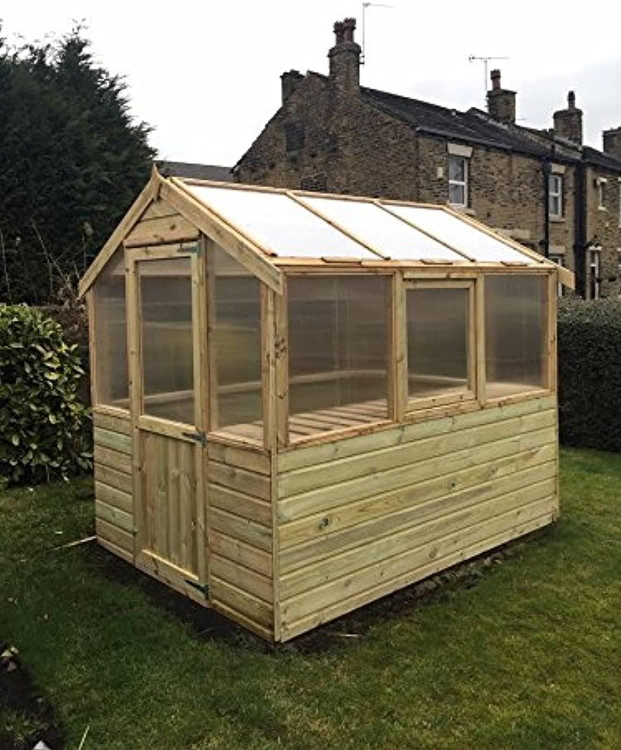 6x6 Pinelap Wooden Greenhouse Tanalised T&G Shiplap With Glazing.