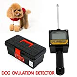 Dog Ovulation Detector Tester Automatic Pet Animal Ovulation Breeder Pregnancy Planning Canine Mating Detecting Tester Testing Machine w/Carrying Case USA Stock