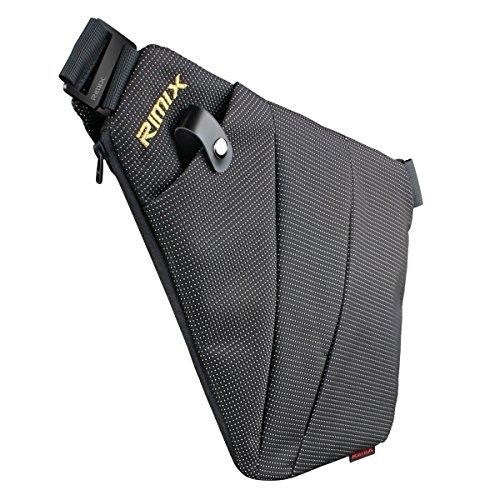 RIMIX Multi-Purpose Anti-Thief Hidden Security Bag Underarm Shoulder Armpit Messenger Bag Sports Leisure Chest Bag Portable Backpack for Phone Money Passport Tactical Bag (Black/for Right Hand)