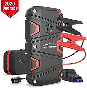 YABER Arrancador de Coches, 1200A Arrancador de Baterias de Coche para 7.5L de Gasolina o 6.0L de Diesel, Arrancador Batería Coche con IP68 Impermeable, con Carga Rápida QC3.0