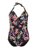 Junarose Jrisidora Soffi Swimsuit - K costume da bagno bambino Donna, Nero (Black AOP)), 54 (Taglia Produttore: 48)