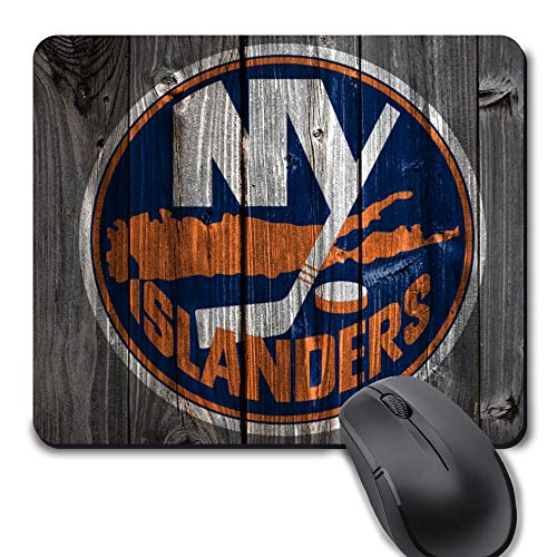 New York Hockey Vintage Wood Texture Background Mouse Pad, Life Needs Sports Unique Design Non-Slip Rubber Gaming Mousepad