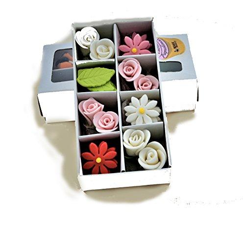 Alta calidad azucareras flores de azúcar Margarita rosas set decoraciones hecho a mano boda de pastel