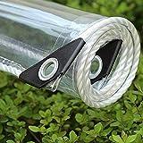 Transparente Plane Abdeckplane,Pflanzenschutz Regen-Vorhänge,PVC Glas Klare Wasserdichte Tarps mit...