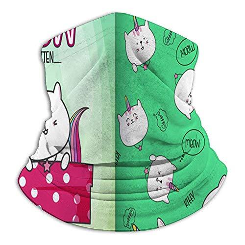Pañuelos infantiles dibujados a mano, diseño de gatito, animales, para polvo, al aire libre, festivales, deportes, color negro