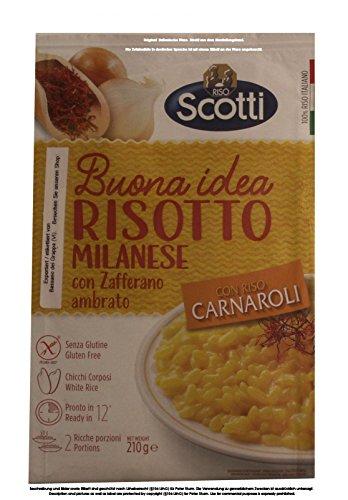 Riso Scotti Risotto Milanese con Zafferano 8 x 210g = 1680g Risotto nach Mailänder Art mit Safran Fertigmischung für Risotto