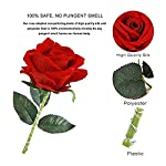 bullpiano eternal flower beauty rose last forever in glass dome red flower rose with wood base with 8 flashing modes remote control rose lamp gifts for mom birthday valentine's day christmas