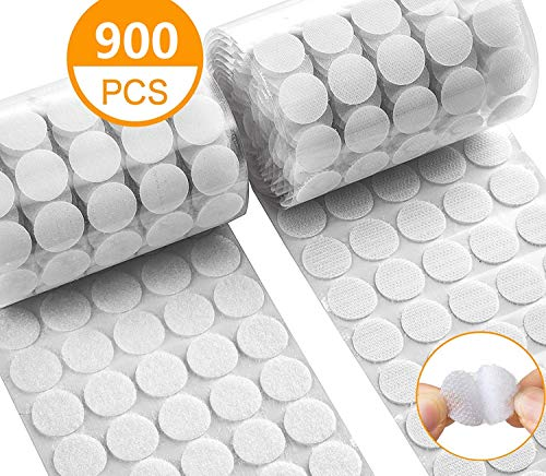 450 Pares Adhesivo Redondo Monedas 15mm, Lunares Adhesivo Cintas Autoadhesivo Puntos de Adhesivo