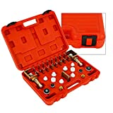 TBVECHI Leak Detection Tools, Universal AC A/C Assembly Flush Fitting Test Adapter Kit Lea...
