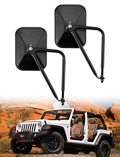 Joytutus Mirrors Doors Off Compatible with Jeep, Wide Vision Mirrors Easy to Install Doors Off Mirror, Doorless Side Quick Release Mirror for Jeep Wrangler TJ JK JKU JL JLU JT Gladiator 1996 to 2020