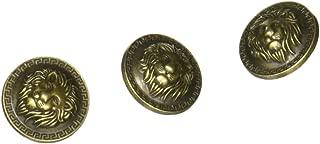 11 Pieces Bronze Vintage Antique Metal Blazer Button Set - 3D Lion Head - for Blazer, Suits, Sport Coat, Uniform, Jacket