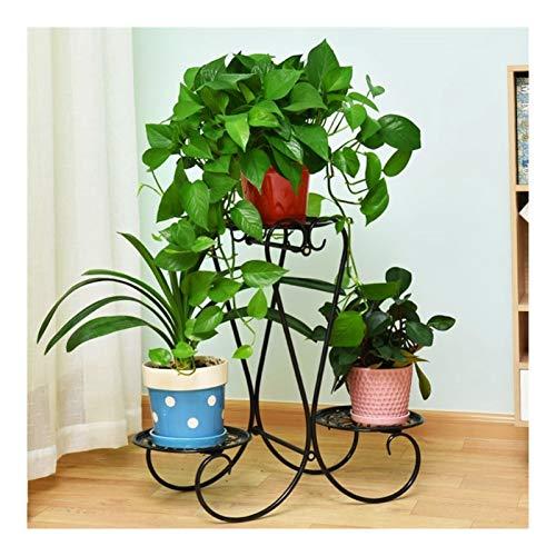 LIGHTZHAO Marco de flores, soporte decorativo para plantas, 3 pisos, espacio en el suelo, ahorro de espacio, adecuado para balcón, sala de estar, dormitorio