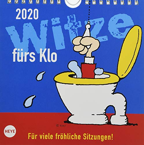Witze fürs Klo. Wandkalender 2020. Wochenkalendarium. Spiralbindung. Format 17,5 x 17,5 cm