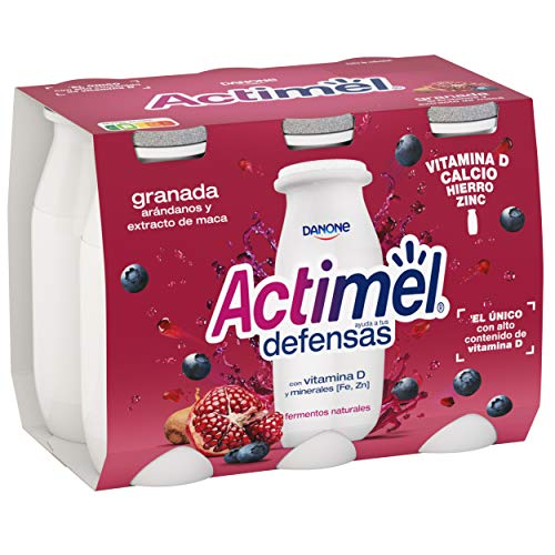 Actimel Granada, Arándanos y Extracto de Maca 6x100 g