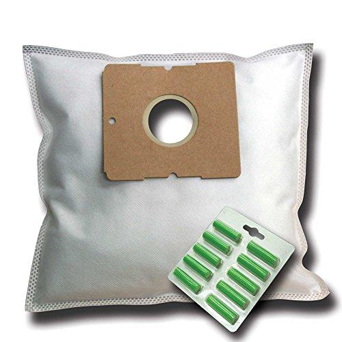 10 Staubsaugerbeutel + 10 Duftstäbe geeignet für ALDI/FIF KS 5123, KS 6122, DIV 340, DIV 350, XTCN 150E, XTCN 180E, Dif 111, EVC 460