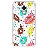 Hapdey Funda Transparente para [ Meizu m3 Note ] diseño [ Donuts con Chocolate y chispitas de Colores ] Carcasa Silicona Flexible TPU