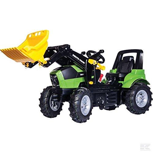 Rolly Toys 710157 Traktor DEUTZ mit Luftbereifung + rollyTrac Lader + Schaltung