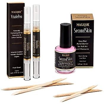 Bundle  Cuticle Oil Pen For Nails & Simply Peel Liquid Latex for Nails - Mess Free Mani & Pedi - Magique VitalePen & Magique SecondSkin
