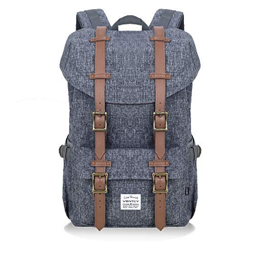 Canvas Backpack Men's Vintage Rucksacks Casual Daypack for Teens Large Capacity Women Backpacks Mens Travel Rucksack 23L (S-Dark Grey)