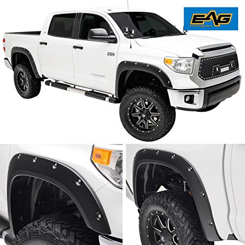 EAG Black Fender Flare Pocket Rivet Style Fit for 14-19 Toyota Tundra (Short, Standard and Long Bed)