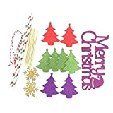 OCCOKO Christmas Cupcake Cake Toppers Cake Insert Flags For Party Baking Cake Toppers Birthday Party Decor Supplies Photograph New Pull Flag Card 1 Set(B, 1Set)