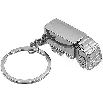Beiersi Cr/éatif Mode Camion M/étal Porte-cl/és KeyChain Keyring Style 1