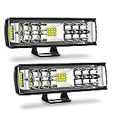 Autofeel LED Light Bar 2PCS 7 Inch 60W LED Pods Flood Spot Beam Combo Off Road...