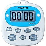 佐藤計量器(SATO) タイマー マグネット付 繰り返し機能 音・光でお知らせ 3分ボタン TM-11LS・1700-32