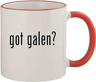 got galen? - 11oz Ceramic Colored Rim & Handle Coffee Mug, Red