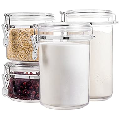 Bellemain 4 Piece Airtight Acrylic Canister Set , Food Storage Container