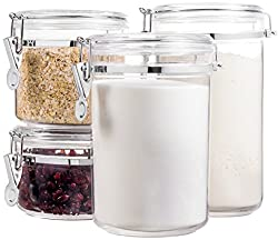 organize kitchen cabinets with food storage container