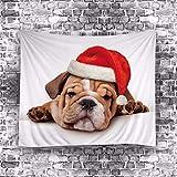 Tapiz De Pared Ropa De Cama Outlet Perro Tapicería Manta De Playa Gato Papá Noel Navidad Tapiz Colgante De Pared para El Hogar Colcha Arte Alfombra