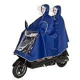 Unisex Double Bike/Ebike/Motorcycle/Scooter Cycling Jacket Poncho Raincoat Cape