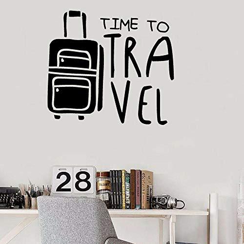 Reise Wandaufkleber Zitate Wandtattoos Zeit zu reisen Home Decors Feiertage Raumdekoration Entdecken Sie Gepäck Schlafzimmer Aufkleber-63x57cm