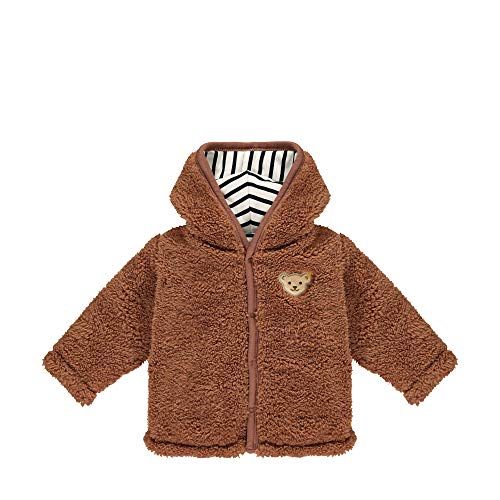 Steiff Baby-Jungen mit süßer Teddybärapplikation Jacke, Rawhide, 080