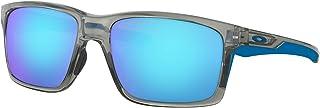 Oakley Men's Mainlink Non-Polarized Iridium Rectangular Sunglasses, Grey Ink w/Sapphire Iridium, 57 mm