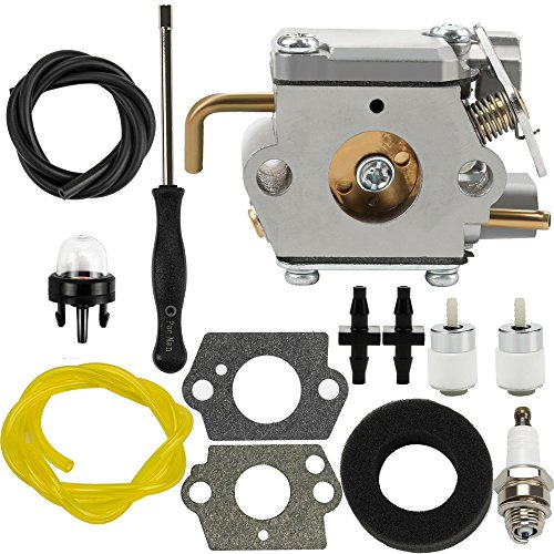 Dalom 791-182875 Carburetor w Air Filter Fuel Line for Bolens BL150 BL100 BL250 Trimmer Yard Man Machines YM20CS YM1000 YM1500 YM320BV YM400 YM70SS 2800m Y28 Y725 Y780 Weed Eater Brushcutter