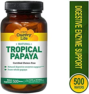Country Life Papaya Chewable Tablets 500 Tablet