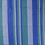 HOMESTEAD Heavy Cotton Ribbed Striped Tapestry Bedspread Bed Sheet Beach Sheet Throw Full 98 x 88 inches, Blue