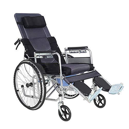 Zelfrijdende rolstoelen, hoge rugleuning, aanhanger aangedreven rolstoel, stoel breed 45cm, vouwvervoer rolstoelen met kamerpot voor volwassenen