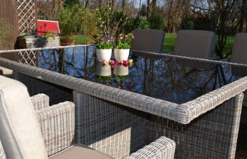 Polyrattan Rattan Geflecht Garten Sitzgruppe Toscana XL Bild 5*
