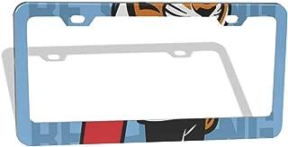 Nixboser Tiger Skateboard Novelty License Plate Frames Graphic Vehicles Tag Border Holder 2 PCS