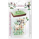 SCRAP COOKING- Kit Déco Football-9 Décorations Foot pour Gâteau, Pâtisserie, Dessert, Anniversaire, Enfant-Cake Design, 5013