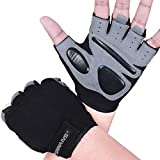 Fitness Workout Gloves Gym Weight Lifting Gloves for Men Women Breathable Gymnasium Wrist Support Padded Deadlifts Exercise Training Pull Ups (Short Wrist, M)