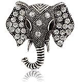 WPCASE Pin Broches Ropa Perla Broche Animal Broches de Animales para niña Pin de Animal de Solapa de Cabeza Animal de Cristal Pin Lindo Animal Pin Silver