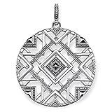 THOMAS SABO Damen-Anhänger Afrika Ornamente Oxidiertes Silber - PE744-637-21