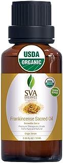 SVA Organics Frankincense Sacra (Sacred) Oil 10 Ml USDA Certified Organic 100% Pure & Natural, Authentic & Premium Therape...