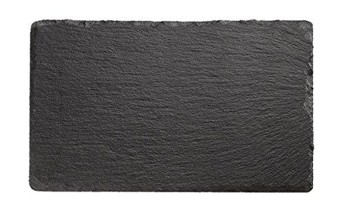 Naturschieferplatte, rechteckig oder quadratisch, in mehreren Größen verfügbar, kühlbar und stapelbar, mit Antirutsch-Füßchen | SUN (A1-24 x 15 cm)
