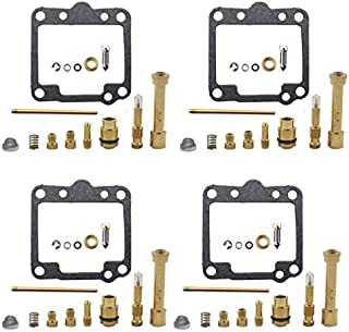 WFLNHB Carb Rebuild Kit fits for 1981-1983 Suzuki GS650G/GS650GL 1983 Suzuki GS650M Katana Carburetor Pack of 4